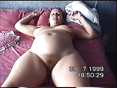 Wife Esther displays her face and cunt