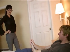 Mommy Knows How To Jerk Young Cock