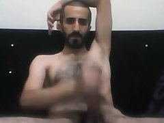 Couple of Turkish daddies wank together