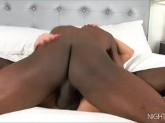 Black bull fucks a MILF with his monster cock