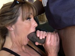 Large breasts milf enjoys a nice interracial bonk