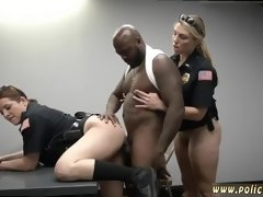Big ass ebony fucks white Milf Cops