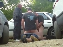 milf practicing dogging