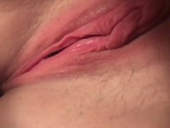 My wife rubbing pink pussy to beautiful orgasm