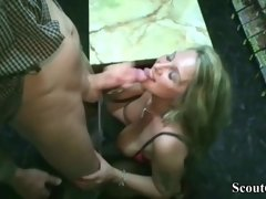 GERMAN BIG TITS MILF Bi JENNY FUCK WITH TWO STRANGER IN VIDEO LIBRARY