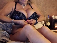 housewife with immense boobs becomes horny after wine