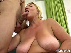 BBW granny fucked hard by a younger guy