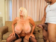 Big tits milf interracial and creampie